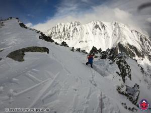 2021-03-15 VT Predné Solisko ďalšia lavína zaznamenaná v pondelok 15.3
